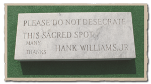 Hank Williams cemetery