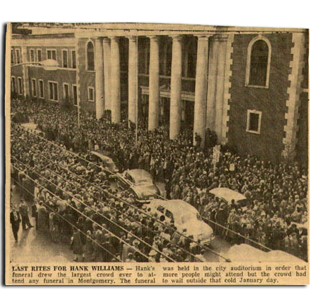 Hank Williams funeral